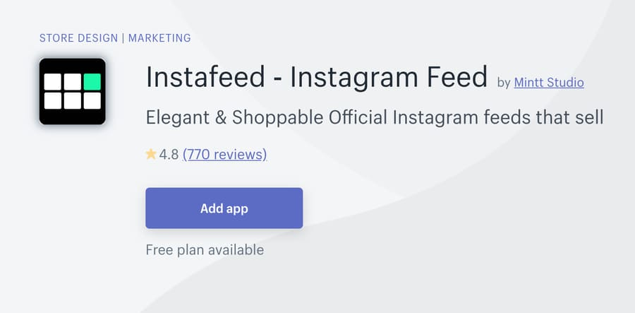 shopify Instagram feed